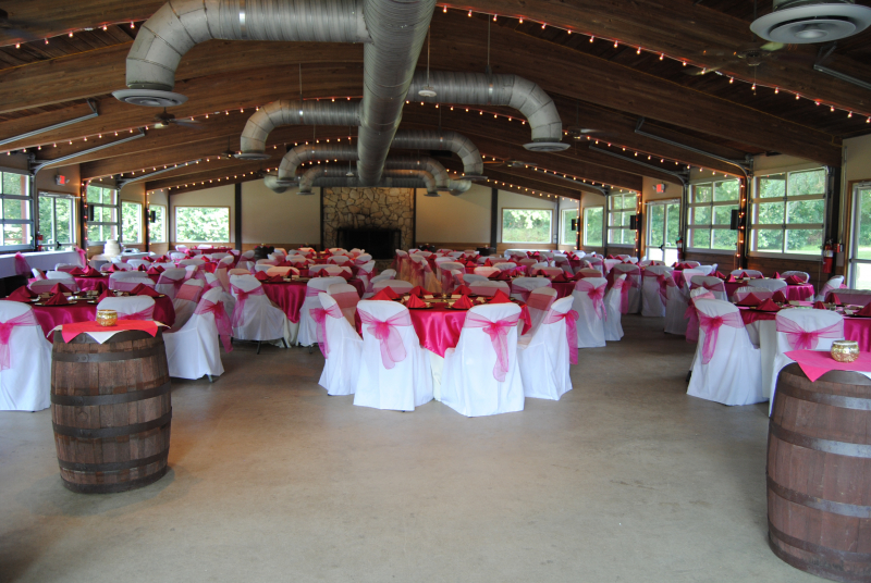 East Pavilion set for Wedding Reception